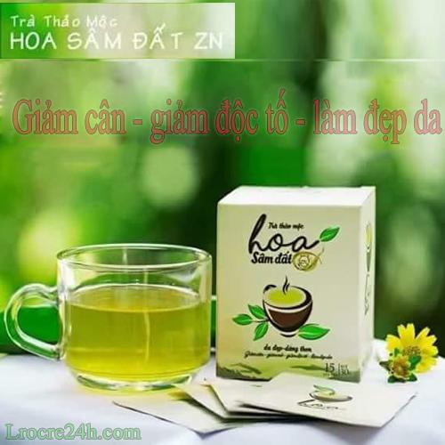 trà hoa sâm đất zn giảm cân